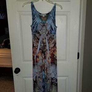 Boston Proper maxi dress animal print